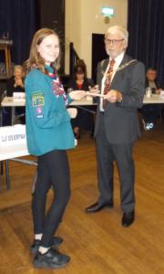 Amelia Howells Accepting Civic Award